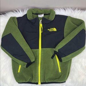 Olive Green North Face Fleece Denali Jacket